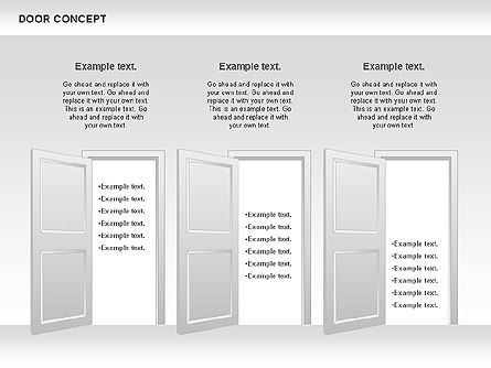 Door Concept Diagram, Slide 8, 00891, Business Models — PoweredTemplate.com