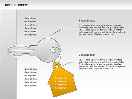 Door Concept Diagram, Slide 9, 00891, Business Models — PoweredTemplate.com