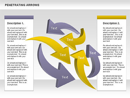 Business Models: Penetrating Arrows #00892