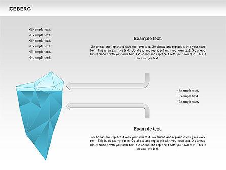 Iceberg Diagram, Slide 2, 00893, Business Models — PoweredTemplate.com