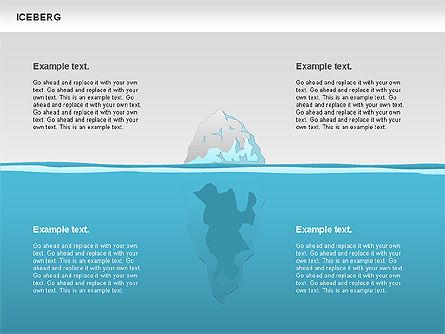 Iceberg Diagram, Slide 3, 00893, Business Models — PoweredTemplate.com