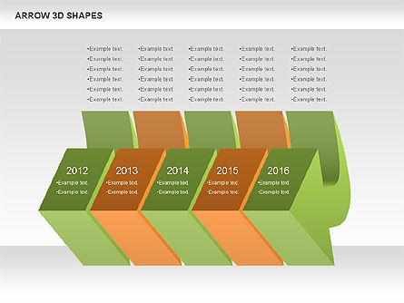 Arrows and 3D Shapes, Slide 10, 00894, Shapes — PoweredTemplate.com