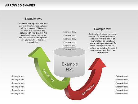 Arrows and 3D Shapes, Slide 11, 00894, Shapes — PoweredTemplate.com