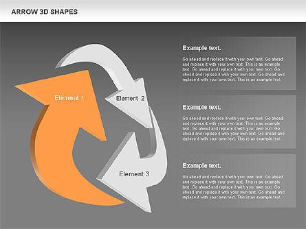 Arrows and 3D Shapes, Slide 12, 00894, Shapes — PoweredTemplate.com