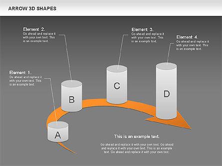 Arrows and 3D Shapes, Slide 13, 00894, Shapes — PoweredTemplate.com