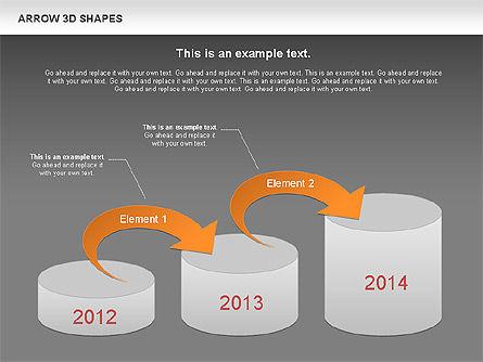 Arrows and 3D Shapes, Slide 14, 00894, Shapes — PoweredTemplate.com