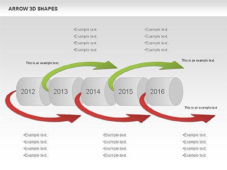 Arrows and 3D Shapes, Slide 6, 00894, Shapes — PoweredTemplate.com