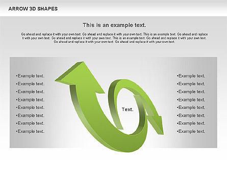 Arrows and 3D Shapes, Slide 8, 00894, Shapes — PoweredTemplate.com