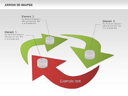 Arrows and 3D Shapes, Slide 9, 00894, Shapes — PoweredTemplate.com