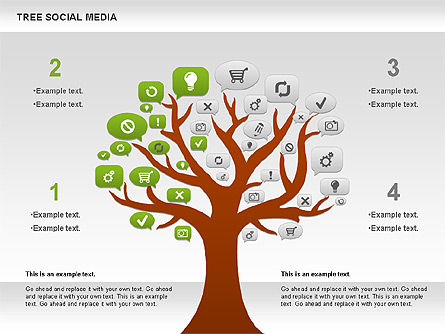 Social Media Tree Diagram, Slide 2, 00896, Business Models — PoweredTemplate.com