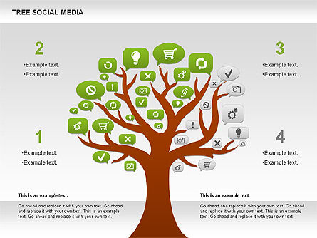 Social Media Tree Diagram, Slide 3, 00896, Business Models — PoweredTemplate.com