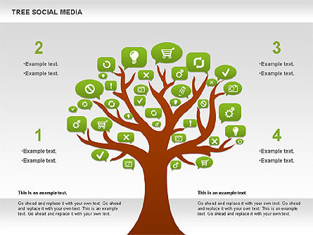 Social Media Tree Diagram, Slide 4, 00896, Business Models — PoweredTemplate.com