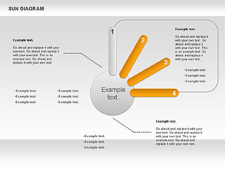 Sun Diagram, Slide 4, 00897, Business Models — PoweredTemplate.com