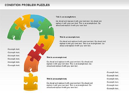 Condition Problem Puzzle Diagram, 00898, Puzzle Diagrams — PoweredTemplate.com