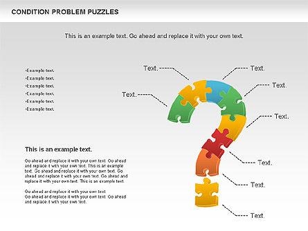 Condition Problem Puzzle Diagram, Slide 10, 00898, Puzzle Diagrams — PoweredTemplate.com