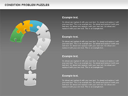 Condition Problem Puzzle Diagram, Slide 14, 00898, Puzzle Diagrams — PoweredTemplate.com