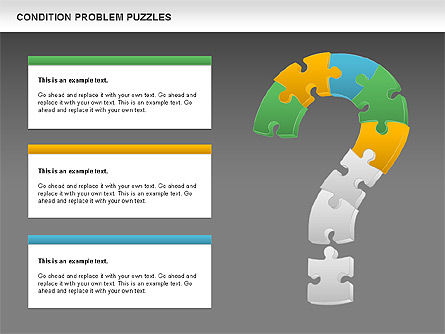Condition Problem Puzzle Diagram, Slide 15, 00898, Puzzle Diagrams — PoweredTemplate.com