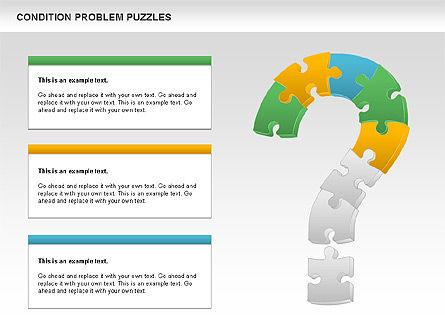Condition Problem Puzzle Diagram, Slide 4, 00898, Puzzle Diagrams — PoweredTemplate.com