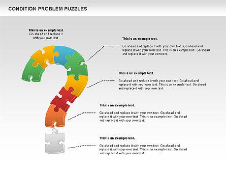 Condition Problem Puzzle Diagram, Slide 5, 00898, Puzzle Diagrams — PoweredTemplate.com