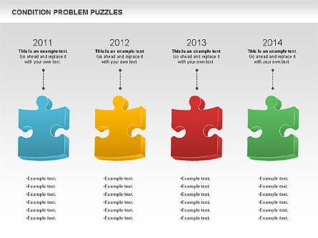 Condition Problem Puzzle Diagram, Slide 7, 00898, Puzzle Diagrams — PoweredTemplate.com