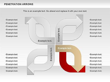 Penetration Arrows Shapes Slide 2
