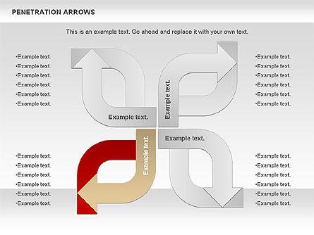 Penetration Arrows Shapes Slide 3