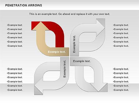 Penetration Arrows Shapes Slide 4