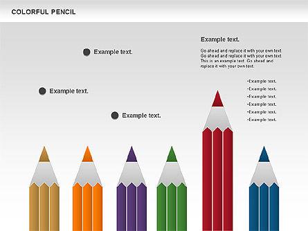 Colorful Pencil Chart, Slide 11, 00901, Business Models — PoweredTemplate.com