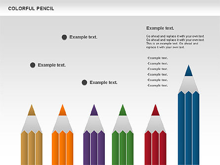Colorful Pencil Chart, Slide 12, 00901, Business Models — PoweredTemplate.com