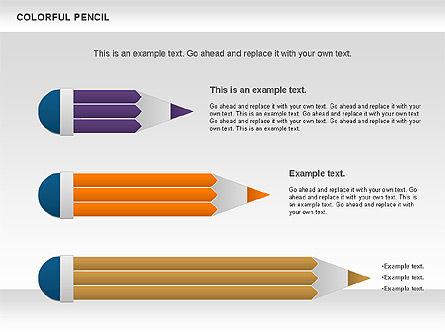 Colorful Pencil Chart, Slide 13, 00901, Business Models — PoweredTemplate.com