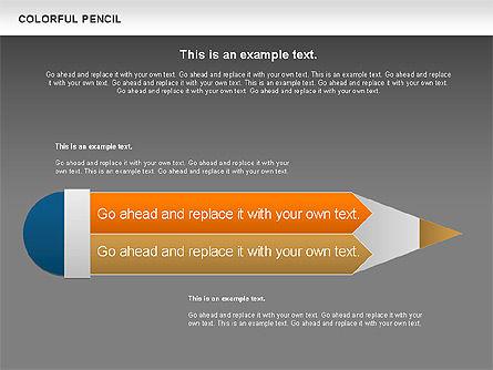 Colorful Pencil Chart, Slide 14, 00901, Business Models — PoweredTemplate.com