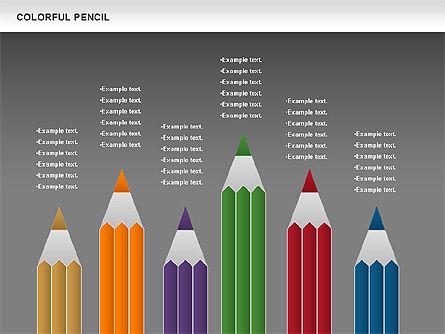 Colorful Pencil Chart, Slide 16, 00901, Business Models — PoweredTemplate.com