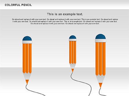 Colorful Pencil Chart, Slide 2, 00901, Business Models — PoweredTemplate.com