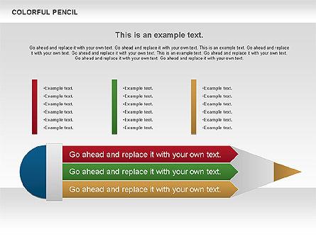 Colorful Pencil Chart, Slide 3, 00901, Business Models — PoweredTemplate.com