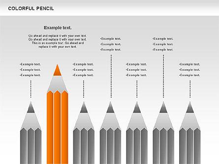 Colorful Pencil Chart, Slide 6, 00901, Business Models — PoweredTemplate.com