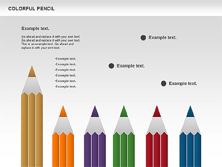 Colorful Pencil Chart, Slide 7, 00901, Business Models — PoweredTemplate.com