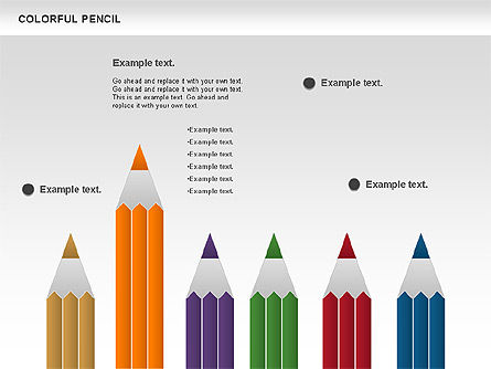 Colorful Pencil Chart, Slide 8, 00901, Business Models — PoweredTemplate.com