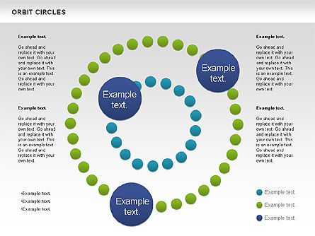 Orbit Circles Diagram, 00907, Business Models — PoweredTemplate.com