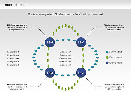 Orbit Circles Diagram, Slide 3, 00907, Business Models — PoweredTemplate.com