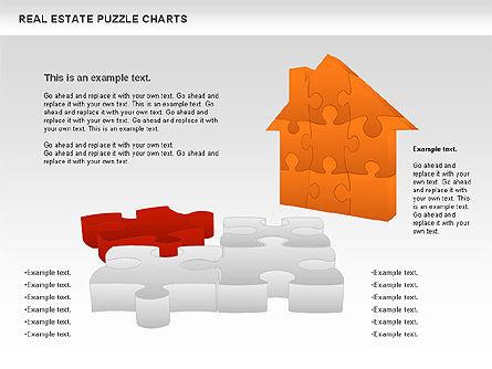 Real Estate Puzzle Charts, Slide 10, 00909, Puzzle Diagrams — PoweredTemplate.com