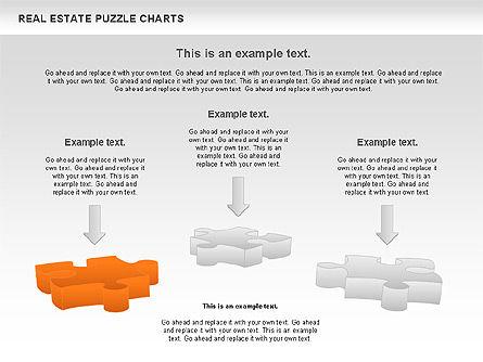 Real Estate Puzzle Charts, Slide 11, 00909, Puzzle Diagrams — PoweredTemplate.com