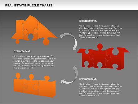 Real Estate Puzzle Charts, Slide 12, 00909, Puzzle Diagrams — PoweredTemplate.com