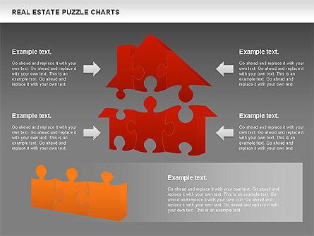 Real Estate Puzzle Charts, Slide 13, 00909, Puzzle Diagrams — PoweredTemplate.com