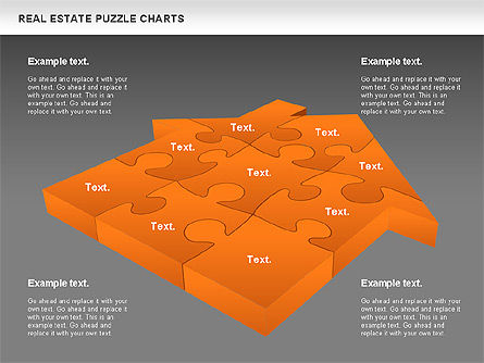 Real Estate Puzzle Charts, Slide 14, 00909, Puzzle Diagrams — PoweredTemplate.com