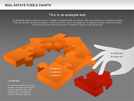Real Estate Puzzle Charts, Slide 15, 00909, Puzzle Diagrams — PoweredTemplate.com