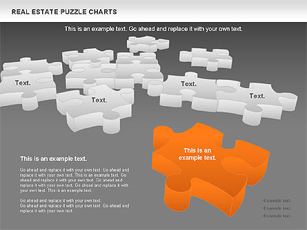 Real Estate Puzzle Charts, Slide 16, 00909, Puzzle Diagrams — PoweredTemplate.com