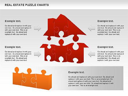 Real Estate Puzzle Charts, Slide 4, 00909, Puzzle Diagrams — PoweredTemplate.com