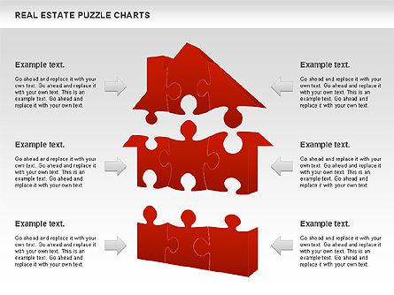 Real Estate Puzzle Charts, Slide 5, 00909, Puzzle Diagrams — PoweredTemplate.com