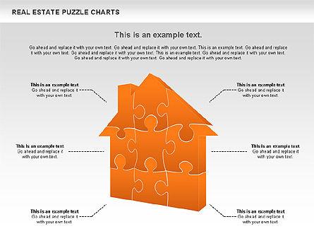Real Estate Puzzle Charts, Slide 6, 00909, Puzzle Diagrams — PoweredTemplate.com