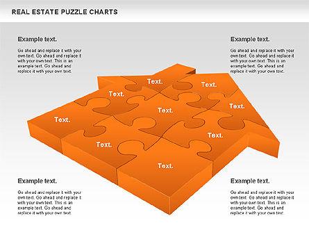 Real Estate Puzzle Charts, Slide 7, 00909, Puzzle Diagrams — PoweredTemplate.com